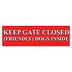 Dog Gate Sticker (Bumper)