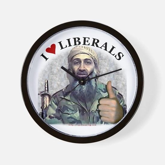 Osama luvs Liberals Wall Clock