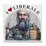 Osama luvs Liberals Tile Coaster