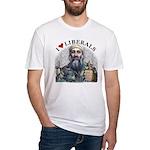 Osama luvs Liberals Fitted T-Shirt