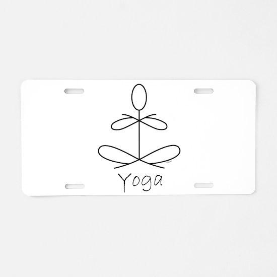 Yoga Glee in White Aluminum License Plate
