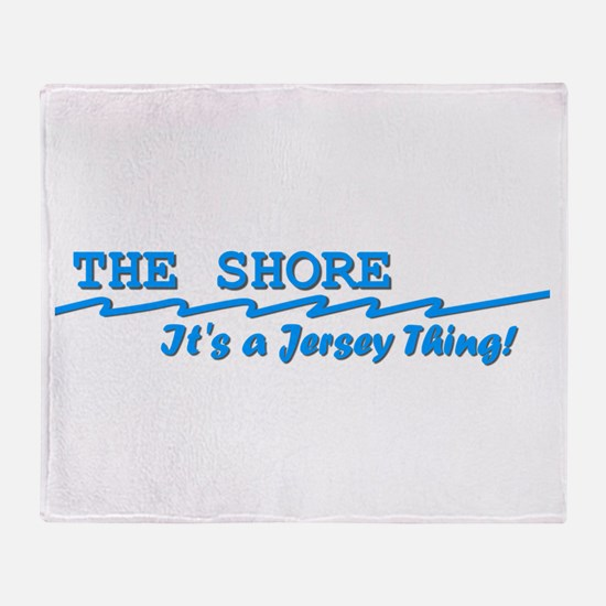 NJ The Jersey Shore Throw Blanket
