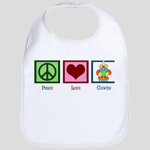 Peace Love Clowns Bib