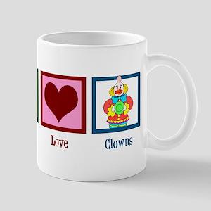 Peace Love Clowns Mug