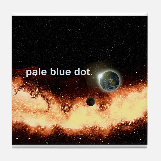 Pale Blue Dot Tile Coaster