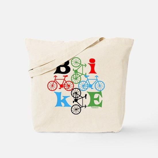 Four Bikes Tote Bag