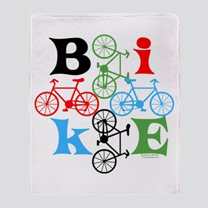 Four Bikes Throw Blanket