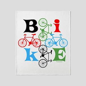 Four Bikes Throw Blanket