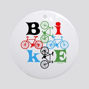 Four Bikes Ornament (Round)
