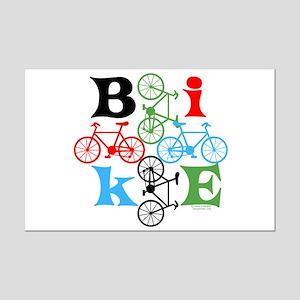 Four Bikes Mini Poster Print