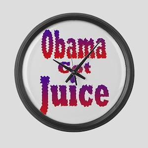 Obama Got Juice Red White Blu Large Wall Clock