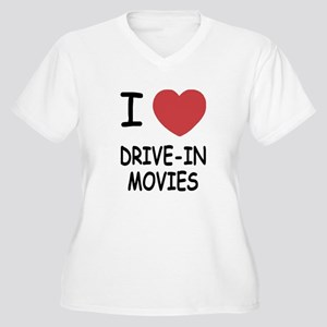 i heart drive-in movies Women's Plus Size V-Neck T