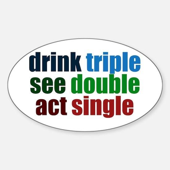 Drinking Joke Sticker (Oval)