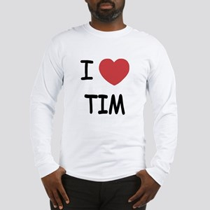 i heart tim Long Sleeve T-Shirt