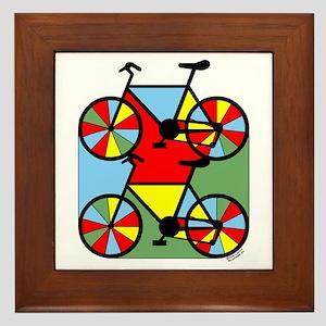 Colorful Bikes Framed Tile