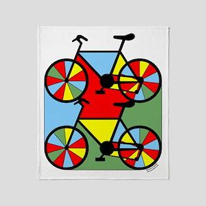 Colorful Bikes Throw Blanket