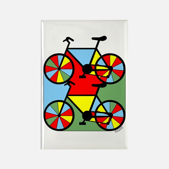 Colorful Bikes Rectangle Magnet