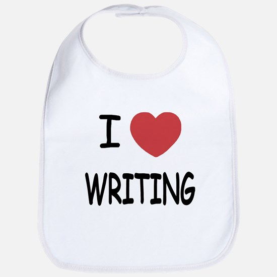 i heart writing Bib