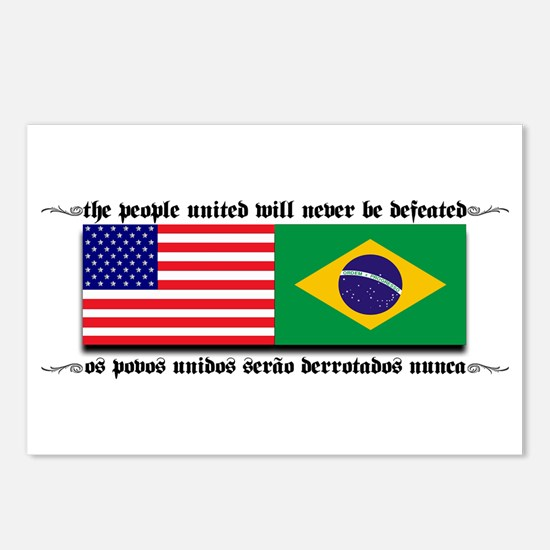 USA - Brazil Postcards (Package of 8)