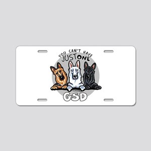 Just One GSD Aluminum License Plate