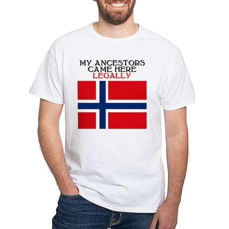 Norwegian Heritage White T-Shirt