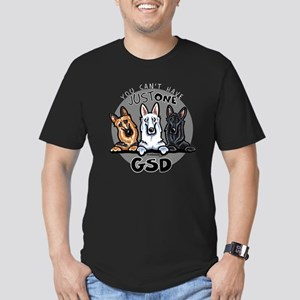 Just One GSD Men's Fitted T-Shirt (dark)