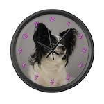 Papillon Dog Large Wall Clock