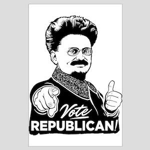 Trotsky Vote Republican Large Poster