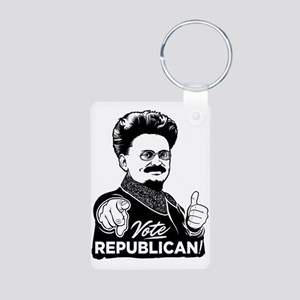 Trotsky Vote Republican Aluminum Photo Keychain