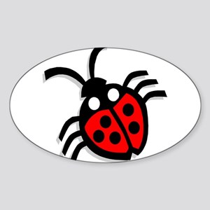 Ladybug4 Oval Sticker