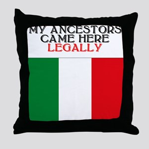 Italian Heritage Throw Pillow