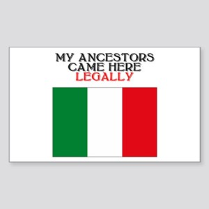Italian Heritage Rectangle Sticker