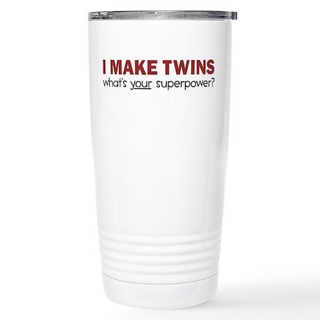 I MAKE TWINS Stainless Steel Travel Mug