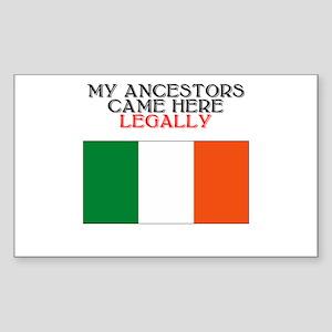 Irish Heritage Rectangle Sticker
