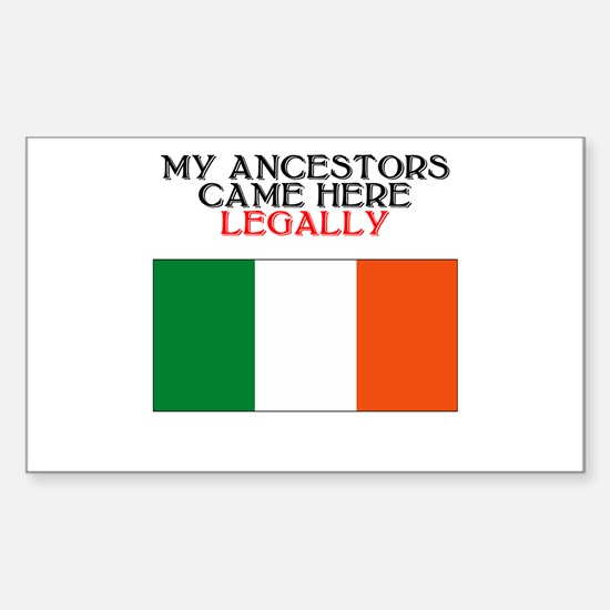 Irish Heritage Rectangle Decal