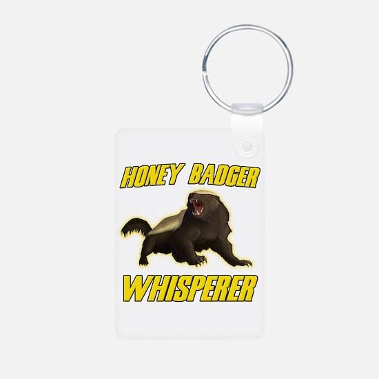 Honey Badger Whisperer Keychains