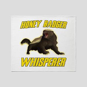 Honey Badger Whisperer Throw Blanket