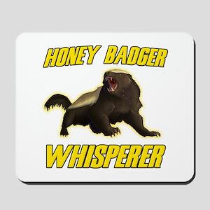 Honey Badger Whisperer Mousepad