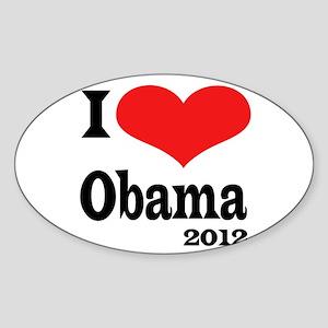 I Love Obama Sticker (Oval)