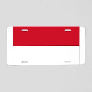 Monegasque Flag Aluminum License Plate