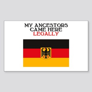 German Heritage Rectangle Sticker