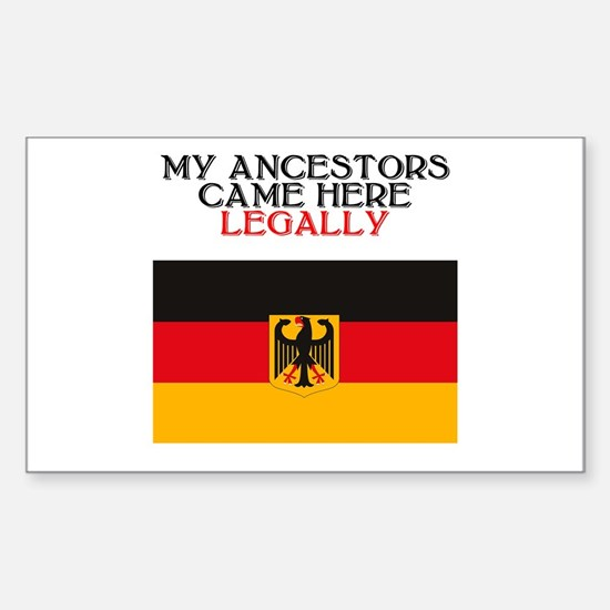 German Heritage Rectangle Bumper Stickers