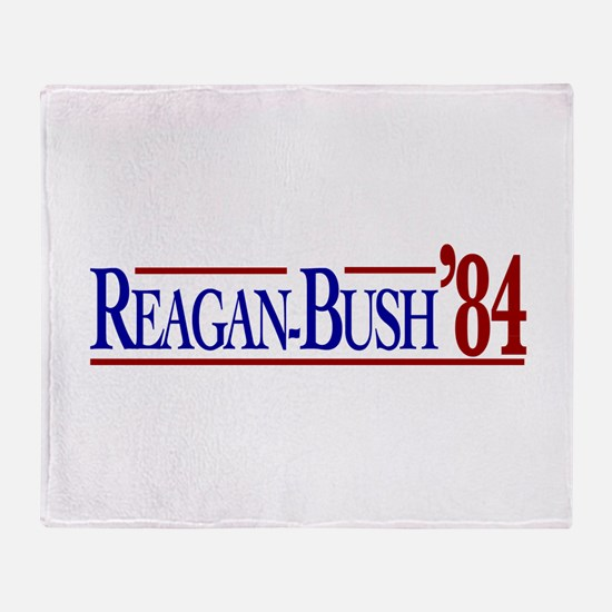 Reagan-Bush 84 Presidential E Throw Blanket