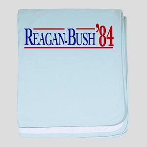 Reagan-Bush 84 Presidential E baby blanket