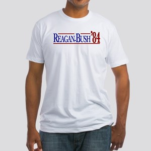 Reagan-Bush 84 Presidential E Fitted T-Shirt