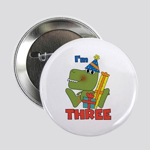 """Little Dino 3rd Birthday 2.25"""" Button"""