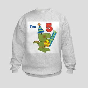 Little Dino 5th Birthday Kids Sweatshirt