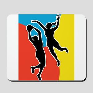 netball player jumping Mousepad