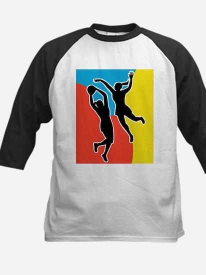 netball player jumping Kids Baseball Jersey