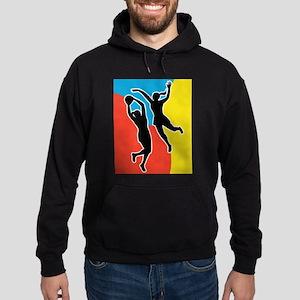 netball player jumping Hoodie (dark)